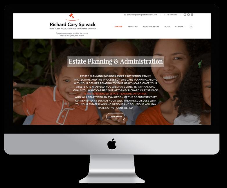 attorney web design case study