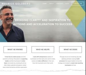life coaching website design