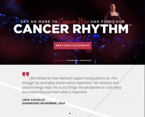 cancer life coach website design